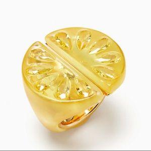New Kate spade tutti fruity lemon ring